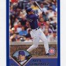 2003 Topps Baseball #266 Alex Gonzalez - Chicago Cubs