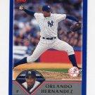 2003 Topps Baseball #241 Orlando Hernandez - New York Yankees
