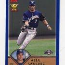 2003 Topps Baseball #237 Alex Sanchez - Milwaukee Brewers