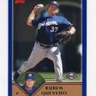 2003 Topps Baseball #111 Ruben Quevedo - Milwaukee Brewers