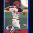2003 Topps Baseball #003 Jimmy Rollins - Philadelphia Phillies