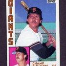 1984 Topps Baseball #768 Champ Summers - San Francisco Giants