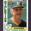 1984 Topps Baseball #531 Steve Boros MG - Oakland A's