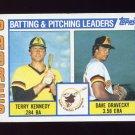 1984 Topps Baseball #366 San Diego Padres TL Terry Kennedy / Dave Dravecky / Team Checklist