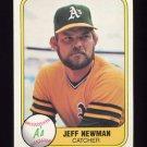 1981 Fleer Baseball #577 Jeff Newman - Oakland A's