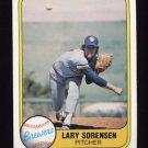 1981 Fleer Baseball #519 Lary Sorensen - Milwaukee Brewers