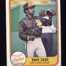 1981 Fleer Baseball #492 Dave Cash - San Diego Padres