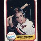 1981 Fleer Baseball #399 Jerry Dybzinski - Cleveland Indians