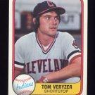 1981 Fleer Baseball #390 Tom Veryzer - Cleveland Indians