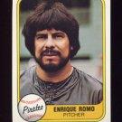 1981 Fleer Baseball #385 Enrique Romo - Pittsburgh Pirates