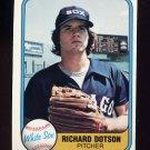 1981 Fleer Baseball #356 Richard Dotson - Chicago White Sox