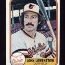 1981 Fleer Baseball #186 John Lowenstein - Baltimore Orioles
