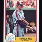 1981 Fleer Baseball #165 Charlie Lea - Montreal Expos