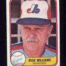 1981 Fleer Baseball #149 Dick Williams MG - Montreal Expos