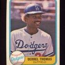 1981 Fleer Baseball #123 Derrel Thomas - Los Angeles Dodgers