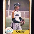 1981 Fleer Baseball #064 Alan Ashby - Houston Astros