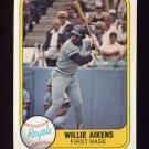 1981 Fleer Baseball #043 Willie Aikens - Kansas City Royals