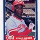 1986 Fleer Baseball #182 Eddie Milner - Cincinnati Reds