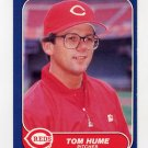 1986 Fleer Baseball #179 Tom Hume - Cincinnati Reds