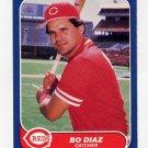 1986 Fleer Baseball #176 Bo Diaz - Cincinnati Reds