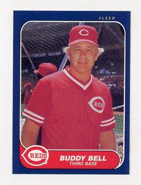 1986 Fleer Baseball 172 Buddy Bell Cincinnati Reds