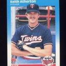 1987 Fleer Baseball #534 Keith Atherton - Minnesota Twins