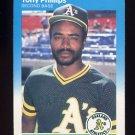 1987 Fleer Baseball #402 Tony Phillips - Oakland A's