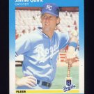 1987 Fleer Baseball #377 Jamie Quirk - Kansas City Royals