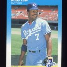1987 Fleer Baseball #372 Rudy Law - Kansas City Royals