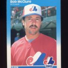 1987 Fleer Baseball #325 Bob McClure - Montreal Expos