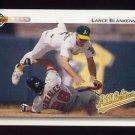 1992 Upper Deck Baseball #749 Lance Blankenship - Oakland A's