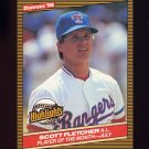 1986 Donruss Highlights Baseball #28 Scott Fletcher - Texas Rangers