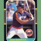 1987 Donruss Baseball #653 John Mizerock - Houston Astros