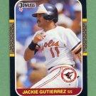 1987 Donruss Baseball #601 Jackie Gutierrez - Baltimore Orioles