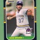 1987 Donruss Baseball #563 Mike G. Brown - Seattle Mariners