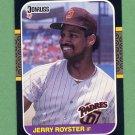 1987 Donruss Baseball #534 Jerry Royster - San Diego Padres