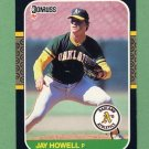 1987 Donruss Baseball #503 Jay Howell - Oakland A's