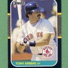 1987 Donruss Baseball #498 Tony Armas - Boston Red Sox