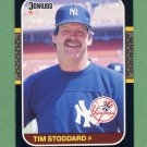 1987 Donruss Baseball #497 Tim Stoddard - New York Yankees ExMt
