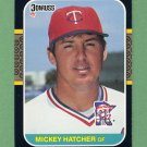 1987 Donruss Baseball #491 Mickey Hatcher - Minnesota Twins
