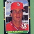 1987 Donruss Baseball #417 Andy Van Slyke - St. Louis Cardinals