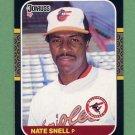 1987 Donruss Baseball #396 Nate Snell - Baltimore Orioles