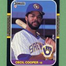 1987 Donruss Baseball #363 Cecil Cooper - Milwaukee Brewers