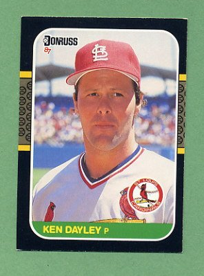 1987 Donruss Baseball #357 Ken Dayley - St. Louis Cardinals