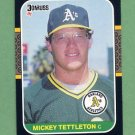 1987 Donruss Baseball #349 Mickey Tettleton - Oakland A's