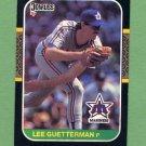 1987 Donruss Baseball #322 Lee Guetterman - Seattle Mariners Vg