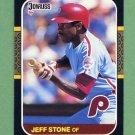 1987 Donruss Baseball #309 Jeff Stone - Philadelphia Phillies