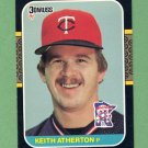 1987 Donruss Baseball #272 Keith Atherton - Minnesota Twins