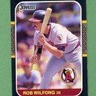 1987 Donruss Baseball #258 Rob Wilfong - California Angels