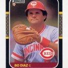 1987 Donruss Baseball #246 Bo Diaz - Cincinnati Reds